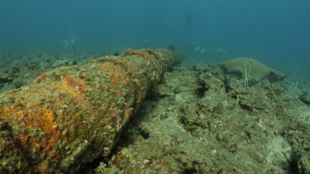 giant undersea tap water pipe connect a small island and mainland - underwater stock videos & royalty-free footage