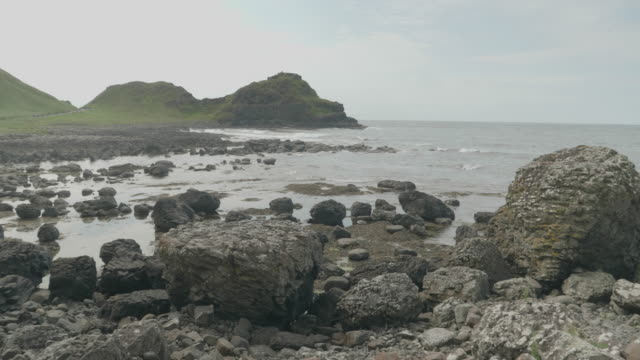 giants causeway at summer time ,northern ireland - causeway stock videos & royalty-free footage