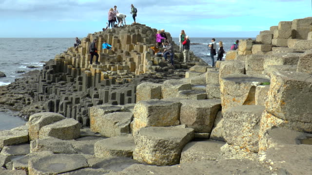giant's causeway - northern ireland - belfast stock videos & royalty-free footage