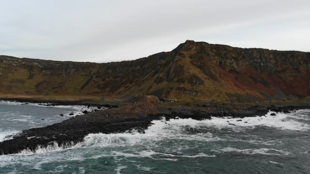 giants causeway northern ireland - basalt stock videos & royalty-free footage