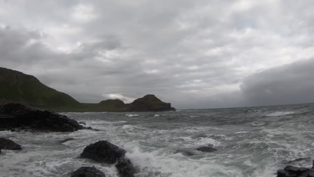 giant's causeway with no people - basalt stock videos & royalty-free footage