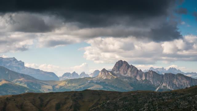 Giau Pass europäischen Alpen Gebirge, Zeitraffer, Dolomiten in Südtirol-Italien