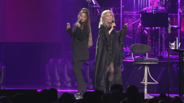 barbra streisand and ariana grande perform together at united center on august 06 2019 in chicago illinois - ariana grande stock videos & royalty-free footage