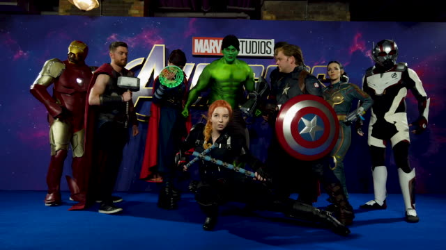 Cosplay players at the 'Avengers Endgame' UK Fan Event