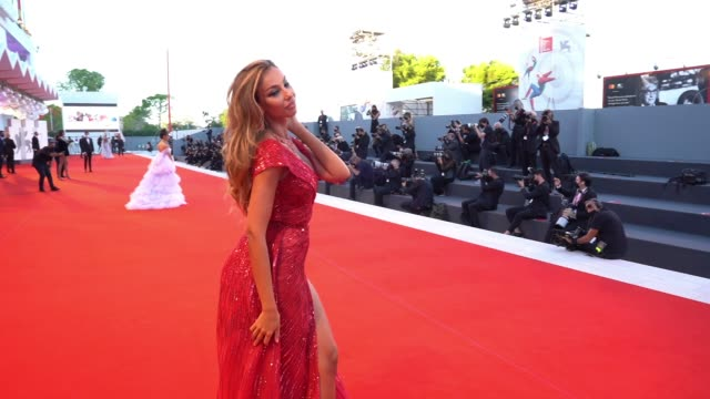 madalina diana ghenea at the 77th venice film festival on september 2 2020 in venice italy - gif stock videos & royalty-free footage