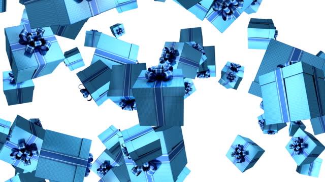 vídeos y material grabado en eventos de stock de animación de caja de regalo - un solo objeto
