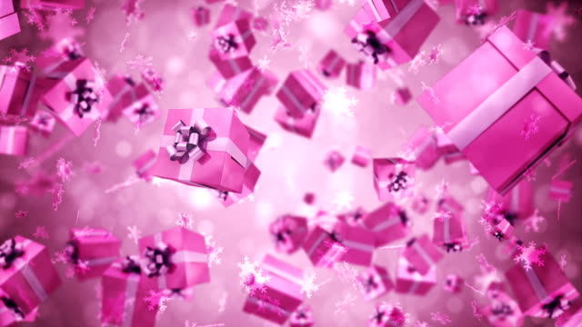 gift box animation - birthday background stock videos & royalty-free footage