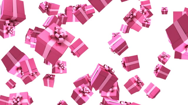 gift box animation - gift box stock videos & royalty-free footage