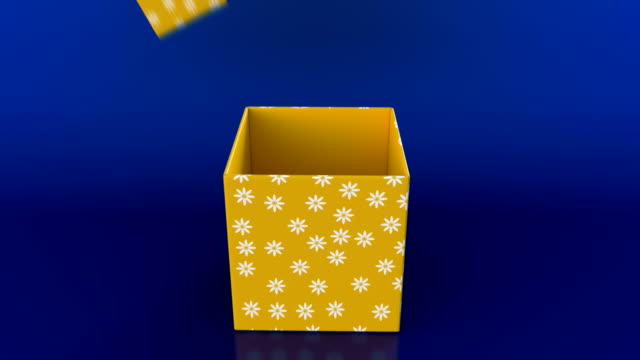 gift box opening animation and zoom in camera action - gift box stock videos & royalty-free footage