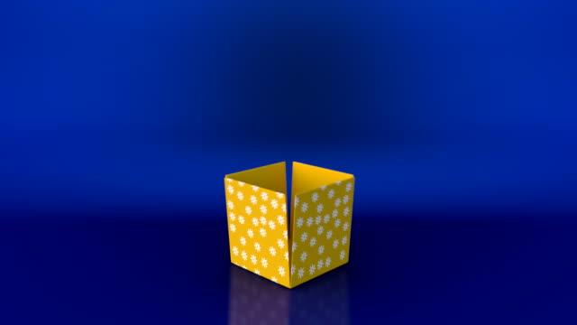 gift box opening animation and zoom in camera action - medium group of objects stock videos & royalty-free footage
