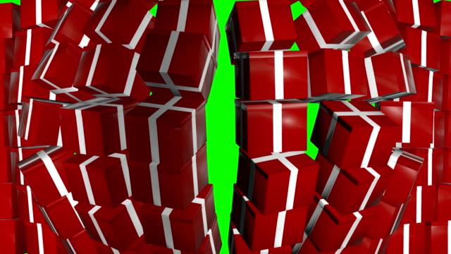 gift box wall falling green screen - ribbon sewing item stock videos & royalty-free footage