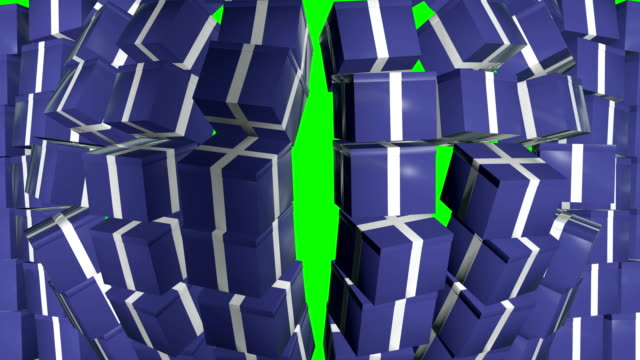gift box wall falling green screen - tied bow stock videos & royalty-free footage