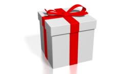 3D gift box, white background