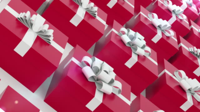 gift boxes - ribbon sewing item stock videos & royalty-free footage
