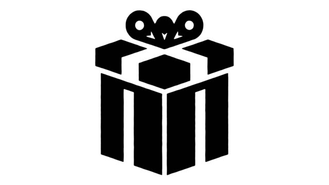 gift market line drawing & ink splatter reveal animation with alpha - gift box stock videos & royalty-free footage