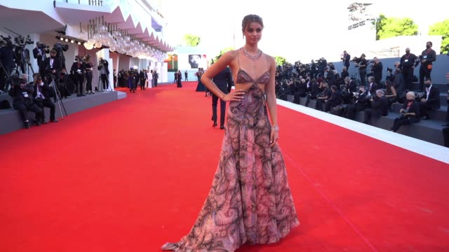 taylor hill at the 77th venice film festival on september 2 2020 in venice italy - gif stock videos & royalty-free footage