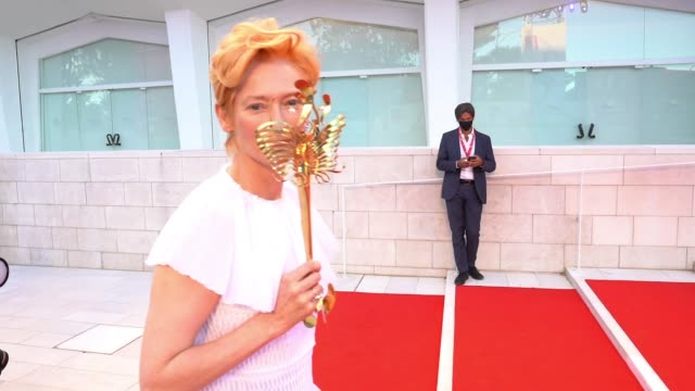tilda swinton at the 77th venice film festival on september 2 2020 in venice italy - gif stock videos & royalty-free footage