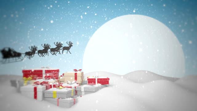 geschenke vom weihnachtsmann - schneemann stock-videos und b-roll-filmmaterial
