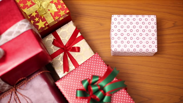 Gifts stack for Christmas day