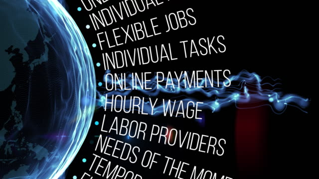 termini di gig economy - disoccupazione video stock e b–roll