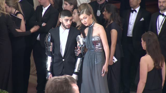 Gigi Hadid and Zayn Malik at Manus x Machina Fashion in an Age of Technology Costume Institute Benefit Gala Arrivals at Metropolitan Museum of Art at...
