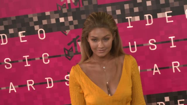 gigi hadid at the 2015 mtv video music awards at microsoft theater on august 30 2015 in los angeles california - gigi hadid stock videos & royalty-free footage