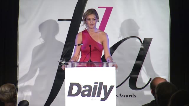 speech gigi hadid at the daily front row presents first annual fashion los angeles awards in los angeles ca - 2015 stock videos & royalty-free footage