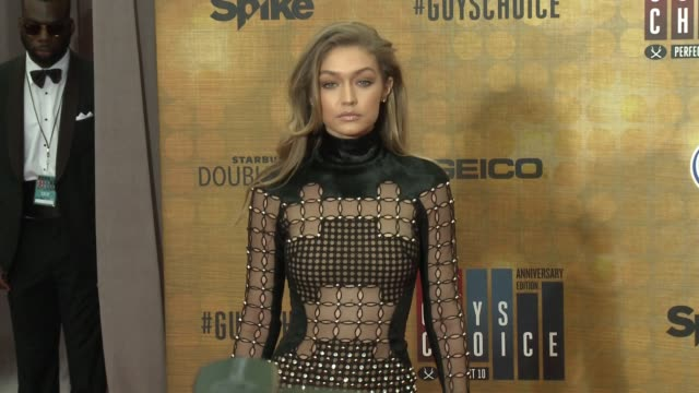 gigi hadid at the spike tv's guys choice 2016 at sony pictures studios on june 4 2016 in culver city california - gigi hadid stock videos & royalty-free footage