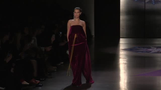 Gigi Hadid Bella Hadid Ashley Graham and more Models on the runway for the Prabal Gurung ready to wear Fall Winter 2018 Fashion Show in New York City...