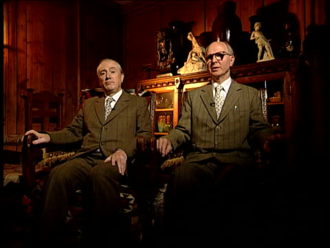 gilbert and george interview int gilbert and george interview preparations sot gilbert and george interview sot first time dirty words pictures have... - the serpentine gallery stock videos & royalty-free footage