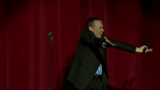 gilbert gottfried on stage at international myeloma foundation 6th annual comedy celebration benefiting the peter boyle research fund on 10/27/12 in... - peter boyle stock videos & royalty-free footage