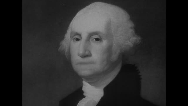 gilbert stuart's portrait of george washington / note exact month/day not known - george washington portrait stock videos and b-roll footage