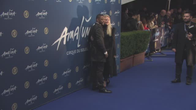 gill, chloe tangney at cirque du soleil: amaluna - press night on january 19, 2016 in london, england. - gill stock videos & royalty-free footage