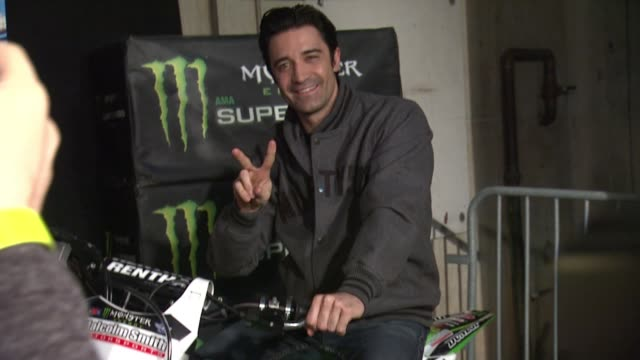 gilles marini at monster energy supercross celebrity night at angel stadium of anaheim on january 23, 2016 in anaheim, california. - angel stadium stock videos & royalty-free footage