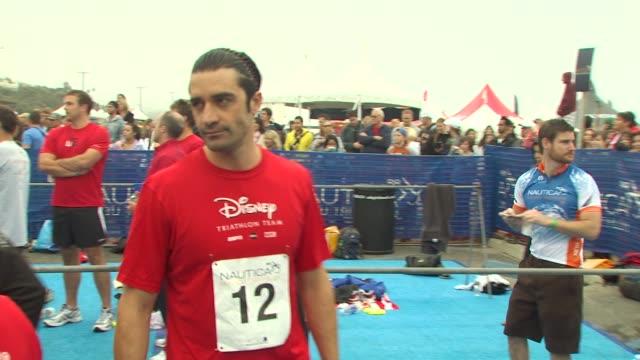 gilles marini at the 24th annual nautica malibu triathlon at malibu ca - nautica malibu triathlon stock videos & royalty-free footage
