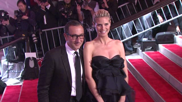 gilles mendel and heidi klum at the 'the model as muse embodying fashion' costume institute gala at the metropolitan museum of art arrivals at new... - heidi klum stock videos and b-roll footage