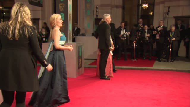 gillian anderson at ee british academy film awards at the royal opera house on february 16 2014 in london united kingdom - gillian anderson stock videos & royalty-free footage