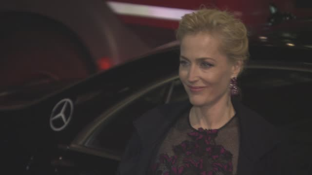 gillian anderson at harpers bazaar women of the year awards on october 31 2016 in london england - gillian anderson stock videos & royalty-free footage