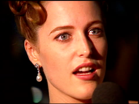 gillian anderson at the 1996 emmy awards post on september 8 1996 - gillian anderson stock videos & royalty-free footage