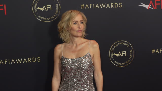 gillian anderson at the 20th annual afi awards at four seasons hotel los angeles at beverly hills on january 03 2020 in los angeles california - gillian anderson stock videos & royalty-free footage