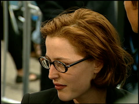 gillian anderson at the 'batman and robin' premiere on june 12 1997 - gillian anderson stock videos & royalty-free footage