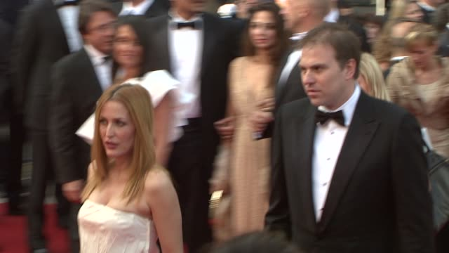 gillian anderson at the blindness screening at the palais in cannes on may 14 2008 - gillian anderson stock videos & royalty-free footage