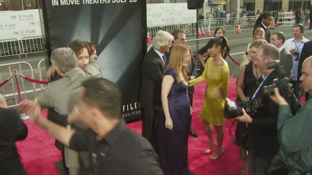 Gillian Anderson at the 'The XFiles I Want to Believe' premiere at Los Angeles CA