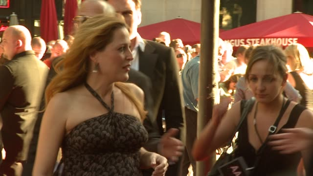 i want to believe uk premiere at london - gillian anderson stock videos & royalty-free footage