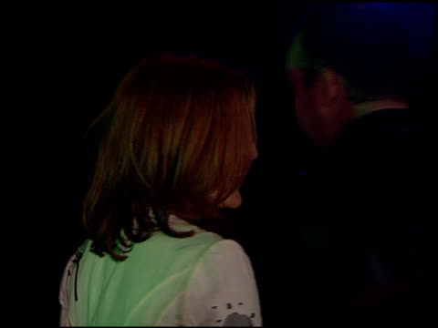 gillian anderson at the xfiles wrap party at house of blues in los angeles california on april 27 2002 - the x files stock videos & royalty-free footage