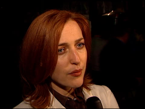 Gillian Anderson at the XFiles Wrap Party at House of Blues in Los Angeles California on April 27 2002