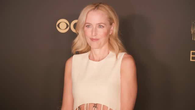 gillian anderson attends the netflix celebration of the 73rd emmy awards at 180 the strand on september 19, 2021 in london, england. - emmy awards stock videos & royalty-free footage