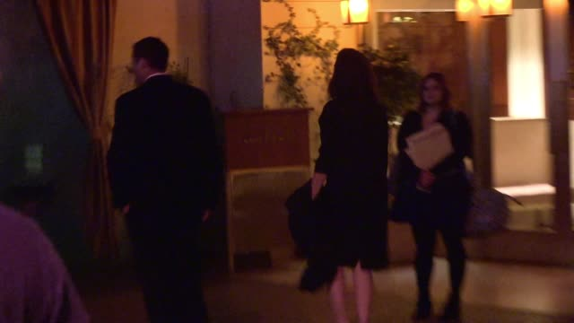 gillian anderson departs netflix after party at sunset in los angeles celebrity sightings in los angeles ca on - gillian anderson stock videos & royalty-free footage