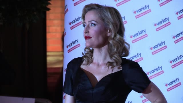 gillian anderson gillian anderson at st pancras renaissance hotel on november 30 2011 in london england - gillian anderson stock videos & royalty-free footage