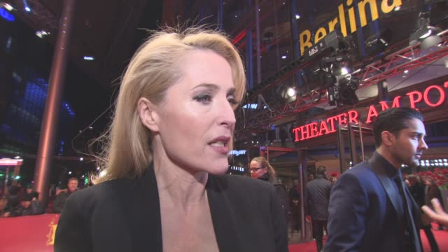 INTERVIEW Gillian Anderson on her character on Gurinder Chadha at Berlin Film Festival 'Viceroy's House' Red Carpet at Berlinale Palast on February...